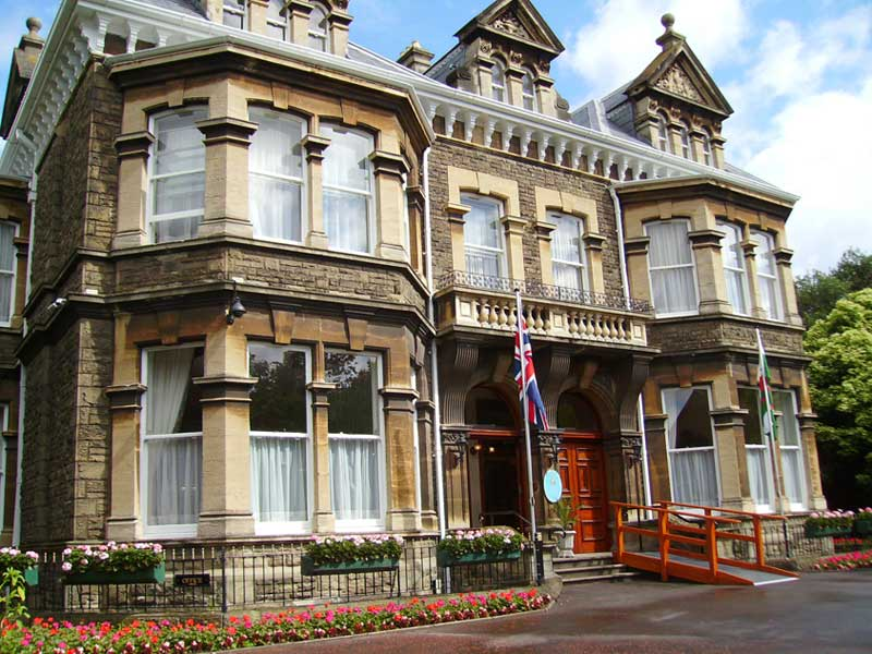 Mansion House in Cardiff, the venue for the citizenship ceremony. Photograph by Seth Whales.