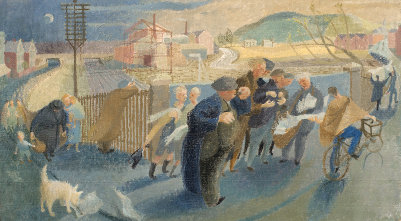 Spring Evening, 1950, oil on canvas, 50x88cm, Aberystwyth University School of Art