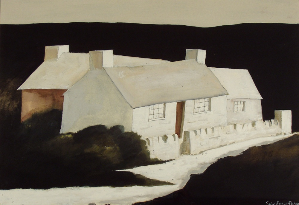 John Knapp-Fisher, Buildings Abereiddu. Copyright John Knapp-Fisher estate, courtesy of Martin Tinney Gallery